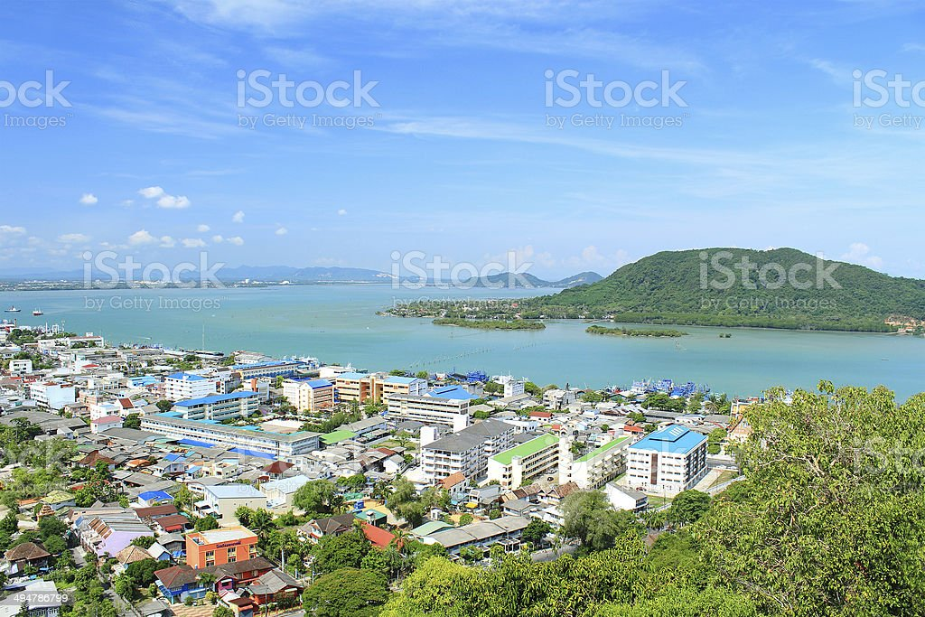 The Songkhla lake in Thailand stock photo