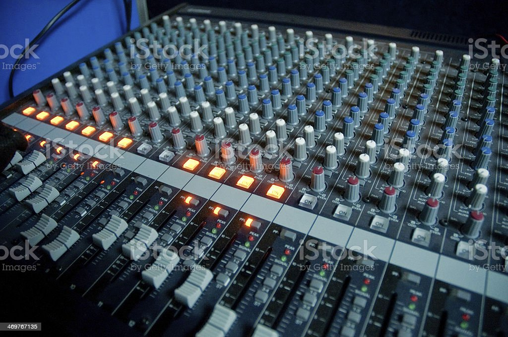 The sound control equipment stock photo