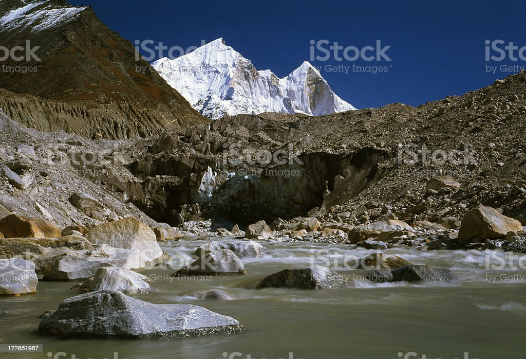 The sources of a river Ganges. stock photo