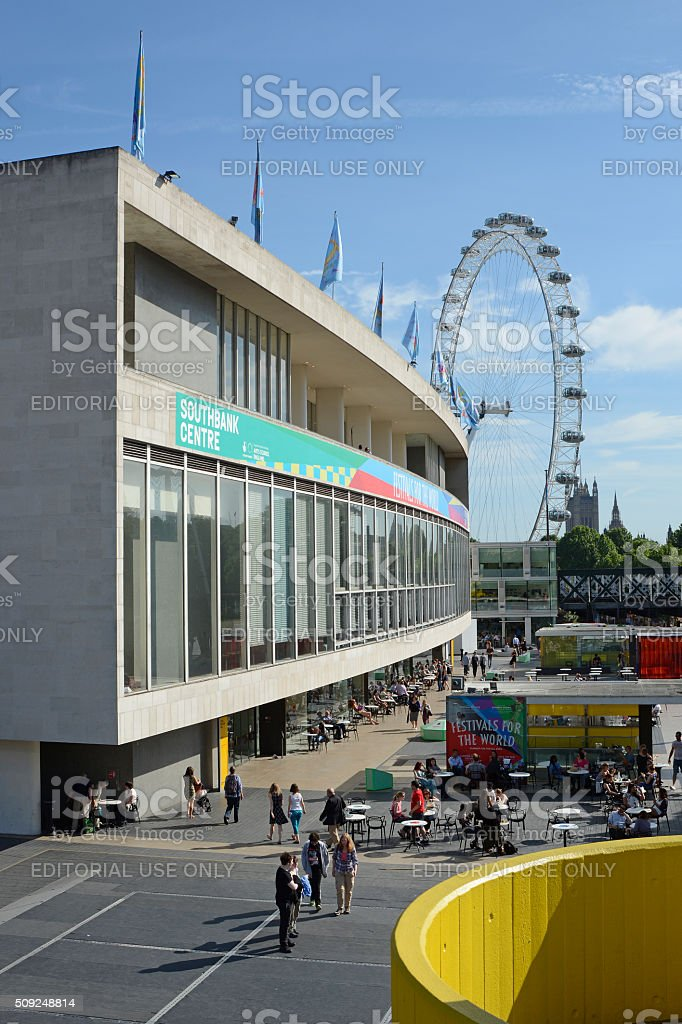 The South Bank in London, England stock photo