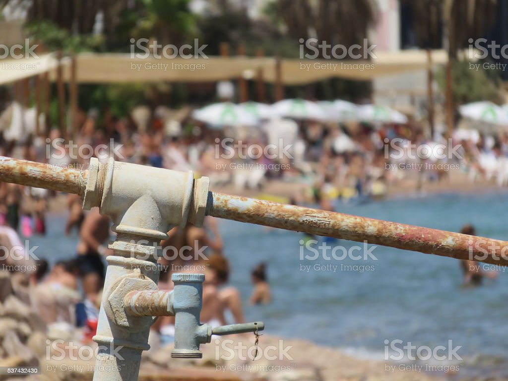The south coast of Eilat, Israel stock photo