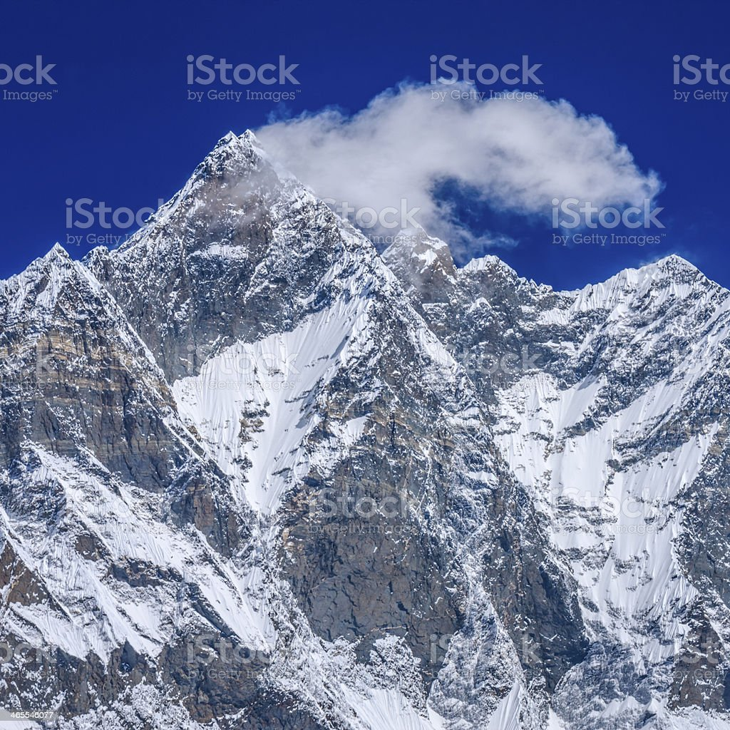 The South Face of Lhotse, Mount Everest National Park, Nepal royalty-free stock photo
