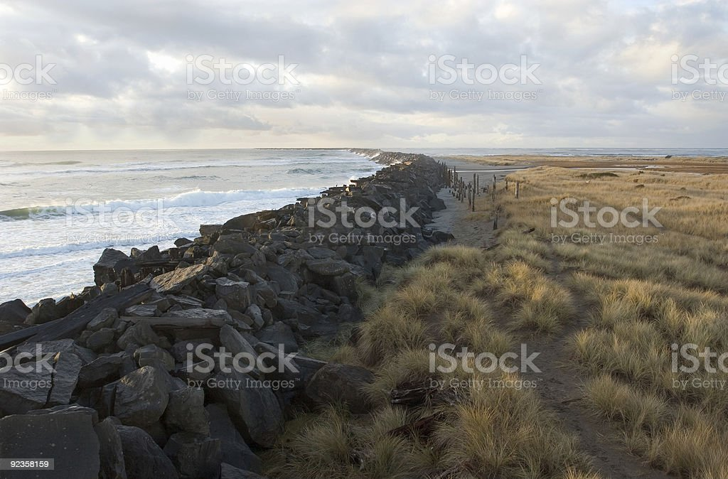 The South Jetty stock photo
