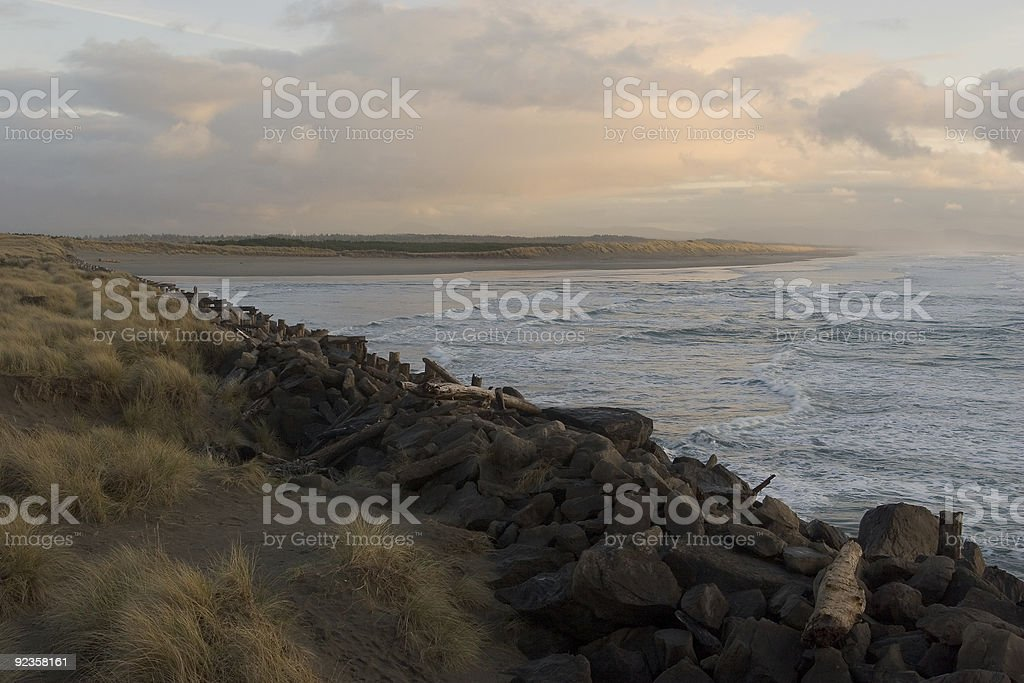 The South Jetty royalty-free stock photo