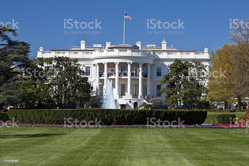 The South Portico of the White House, Washington DC, USA. royalty-free stock photo