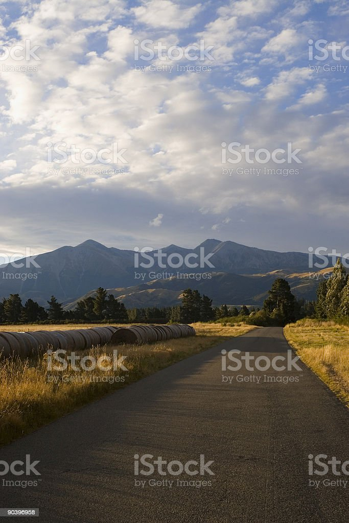 The Southern Alps New Zealand royalty-free stock photo