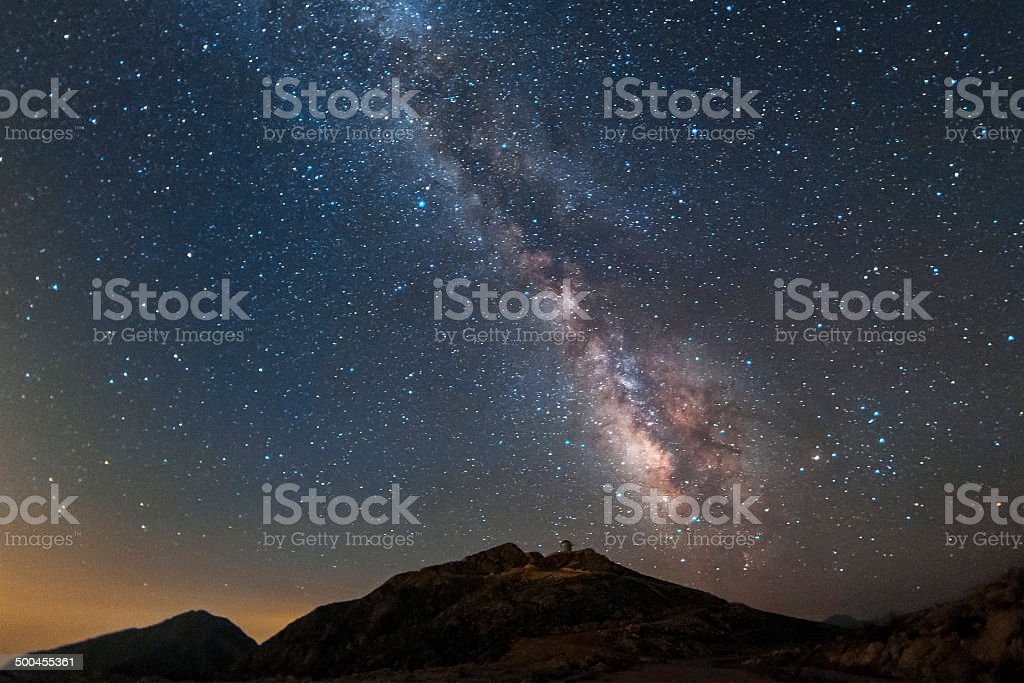 The southern milky way stock photo