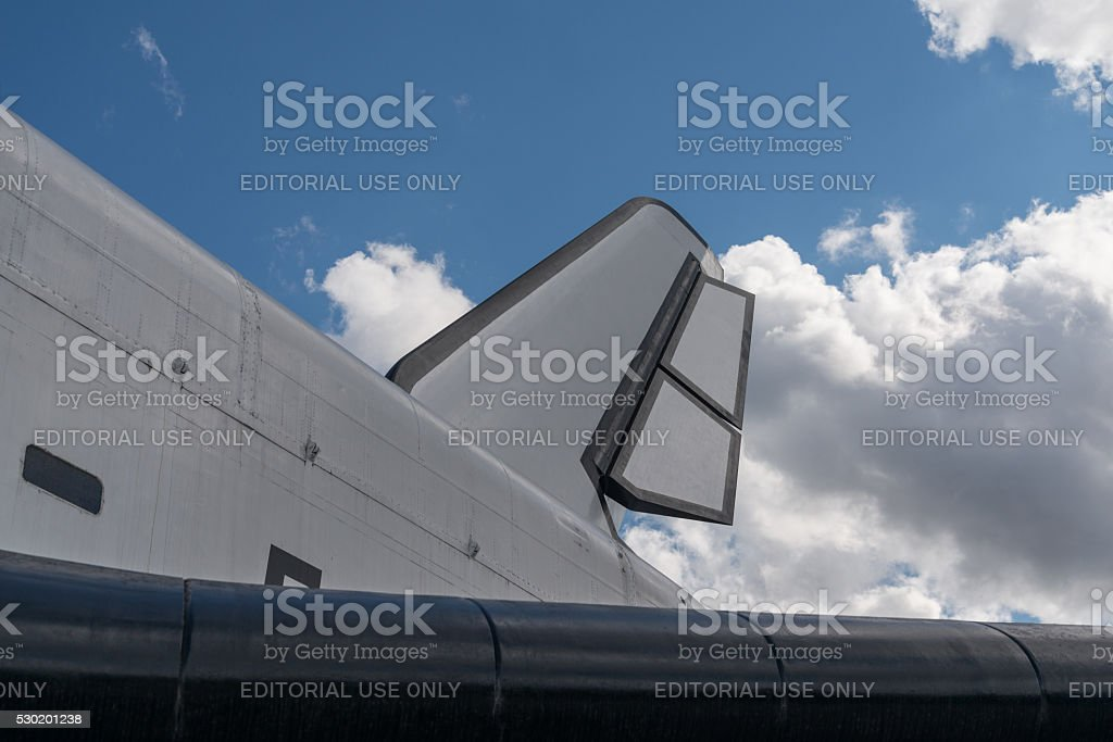 The Soviet space shuttle 'Buran'. Closeup view. stock photo