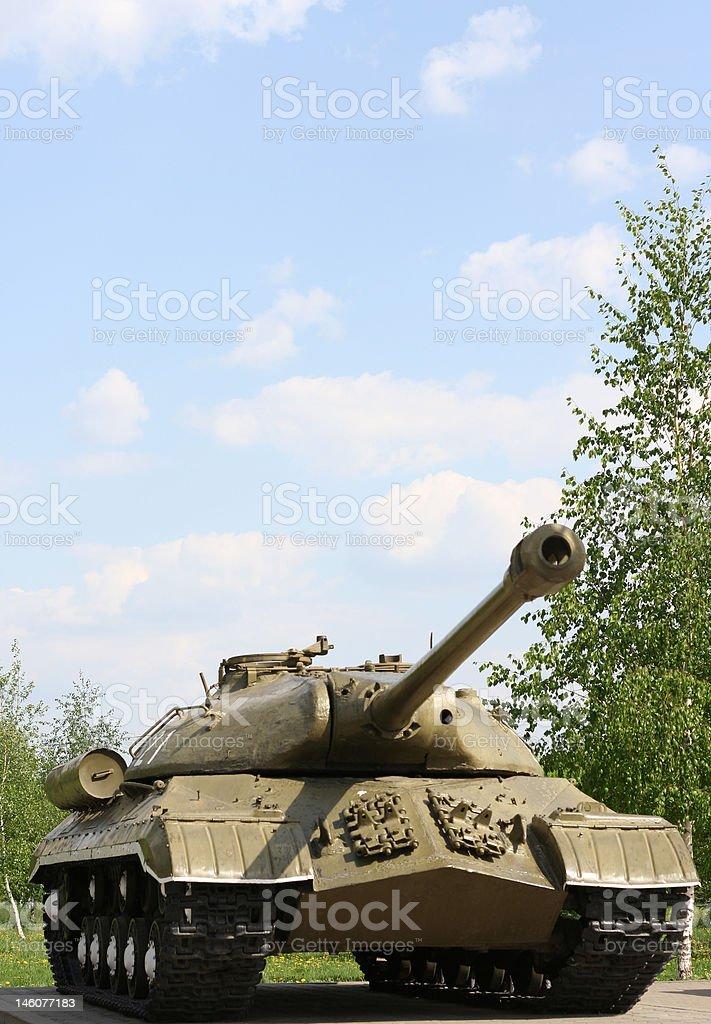 The Soviet tank royalty-free stock photo