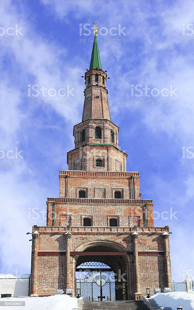 The Soyembika tower in Kazan Kremlin, Tatarstan, Russia stock photo