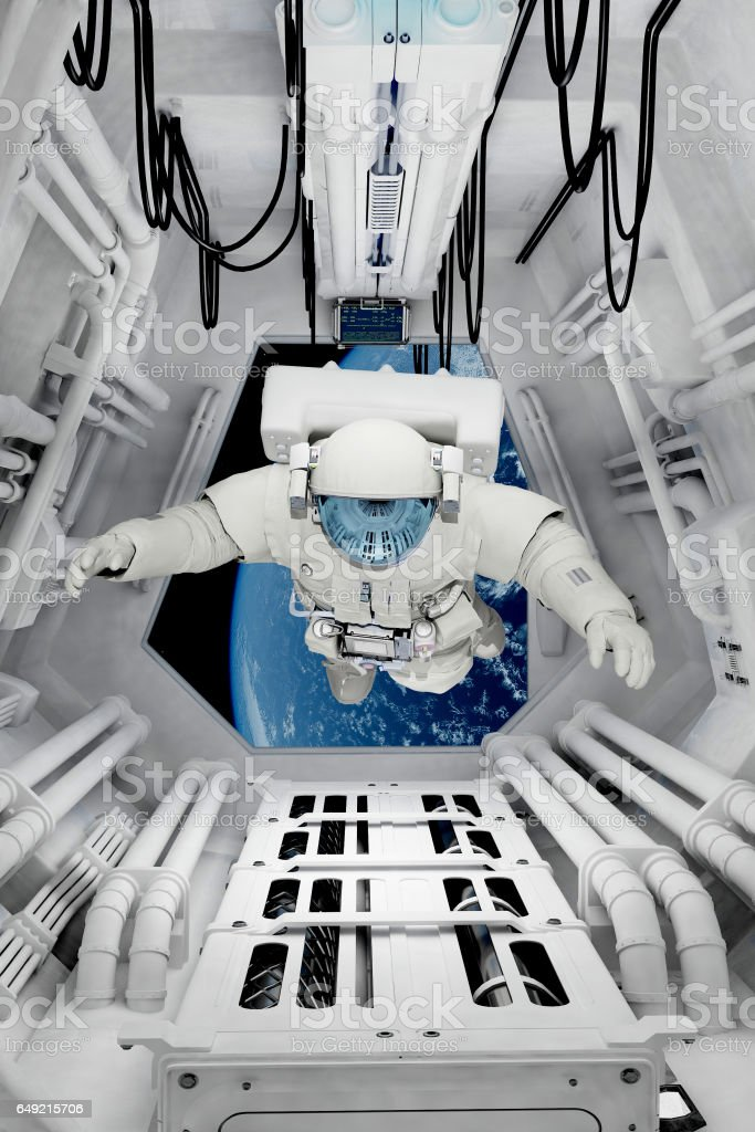 The space station stock photo