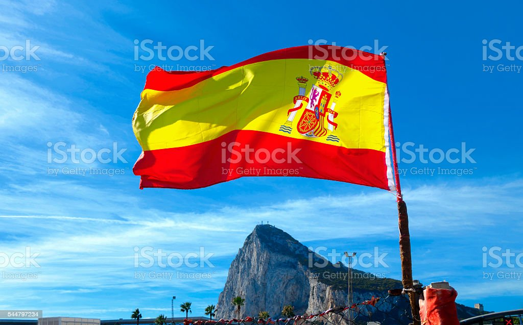 The Spanish flag. stock photo
