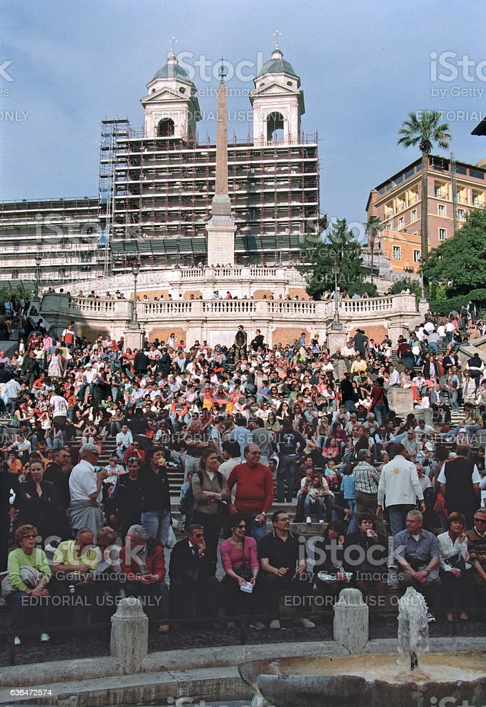 The Spanish Steps and Piazza di Spagna, Rome, Italy stock photo