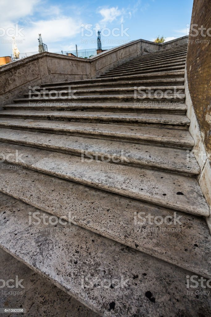 The Spanish Steps in Rome, Italy stock photo