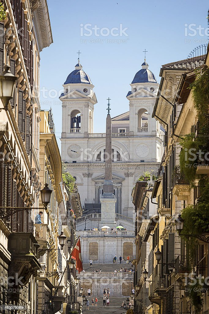 The Spanish Steps in Rome. stock photo