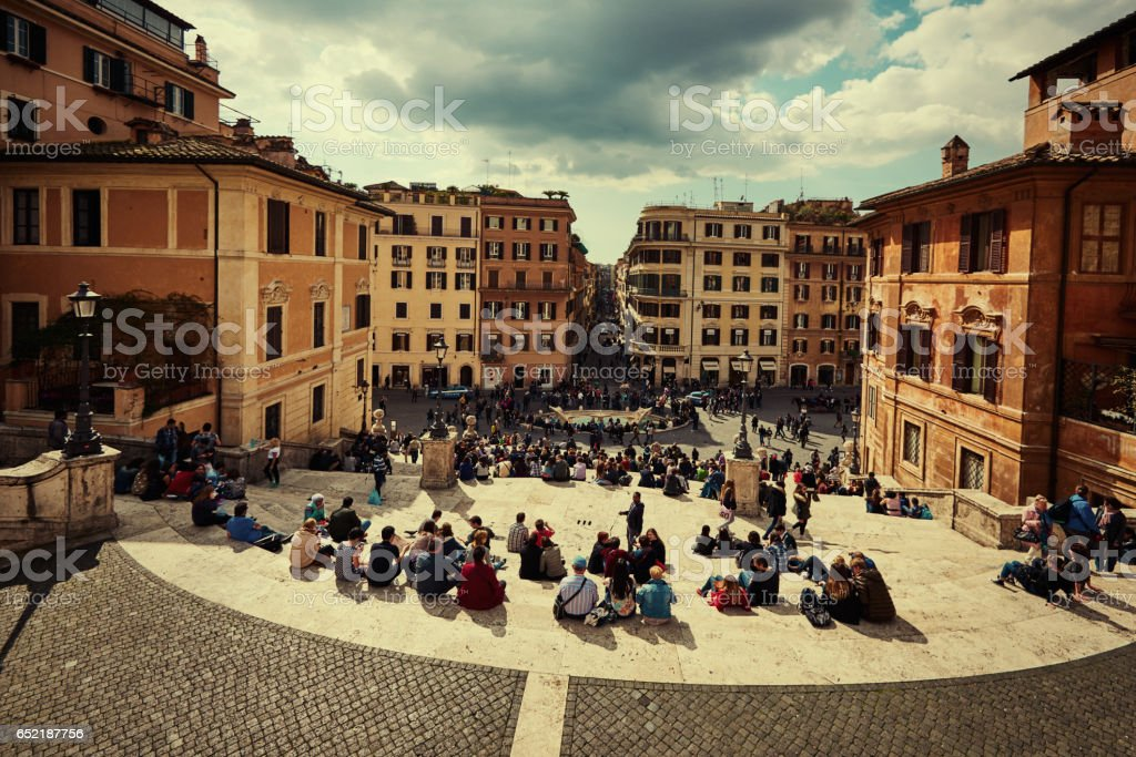 The Spanish Steps, Rome, Italy stock photo
