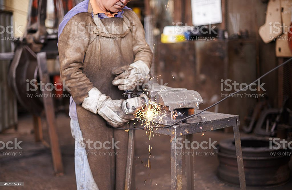 The sparks were there alright stock photo