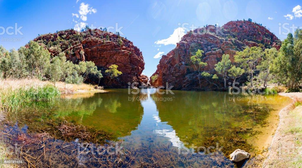 The Spectacular Ellery Creek Big Hole Waterhole in Northern Territory, Australia stock photo
