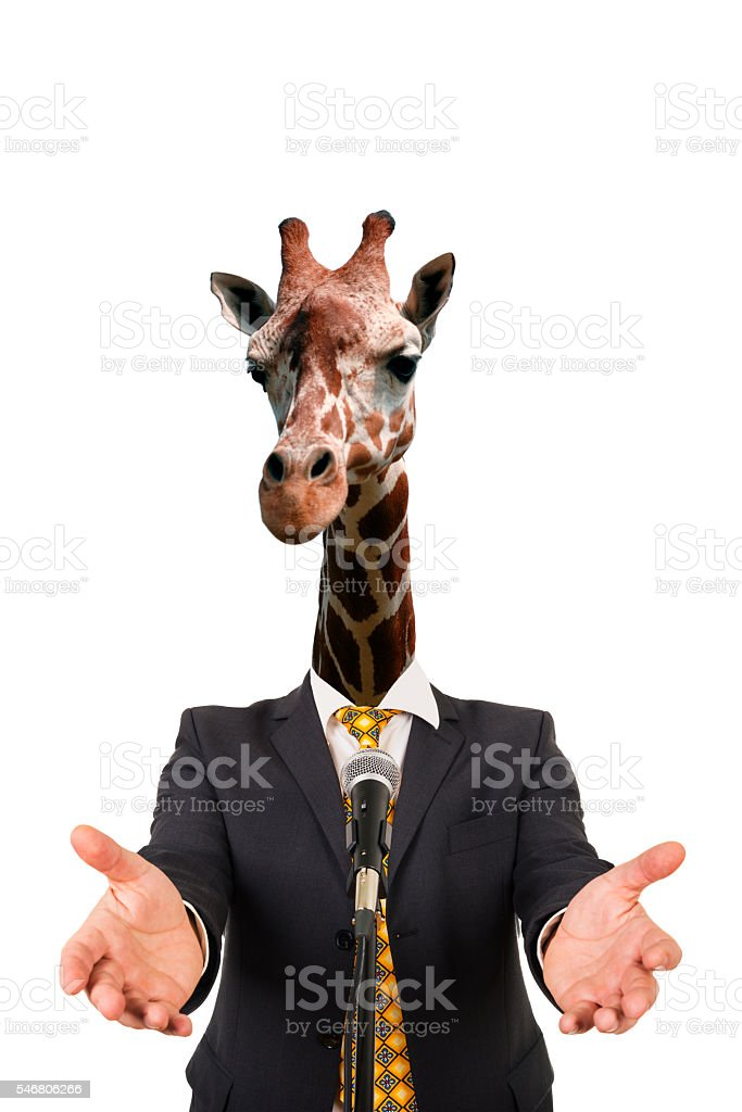 the speech of an animal stock photo