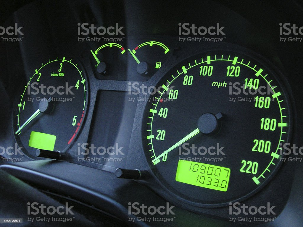The speedometer royalty-free stock photo
