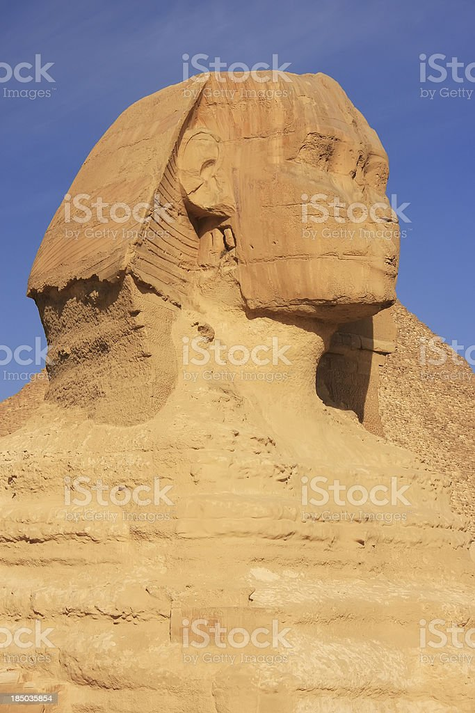 The Sphinx against blue sky, Cairo royalty-free stock photo