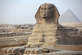 The Sphinx and ancient Egyptian pyramid