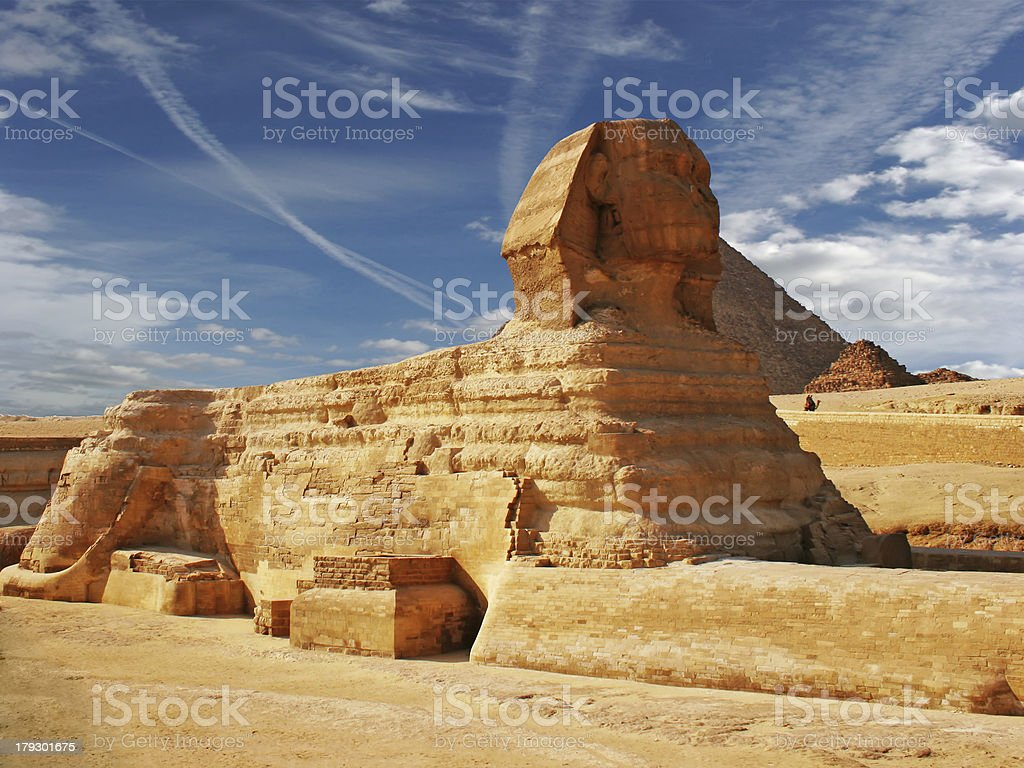 The Sphinx and Pyramid 3 stock photo