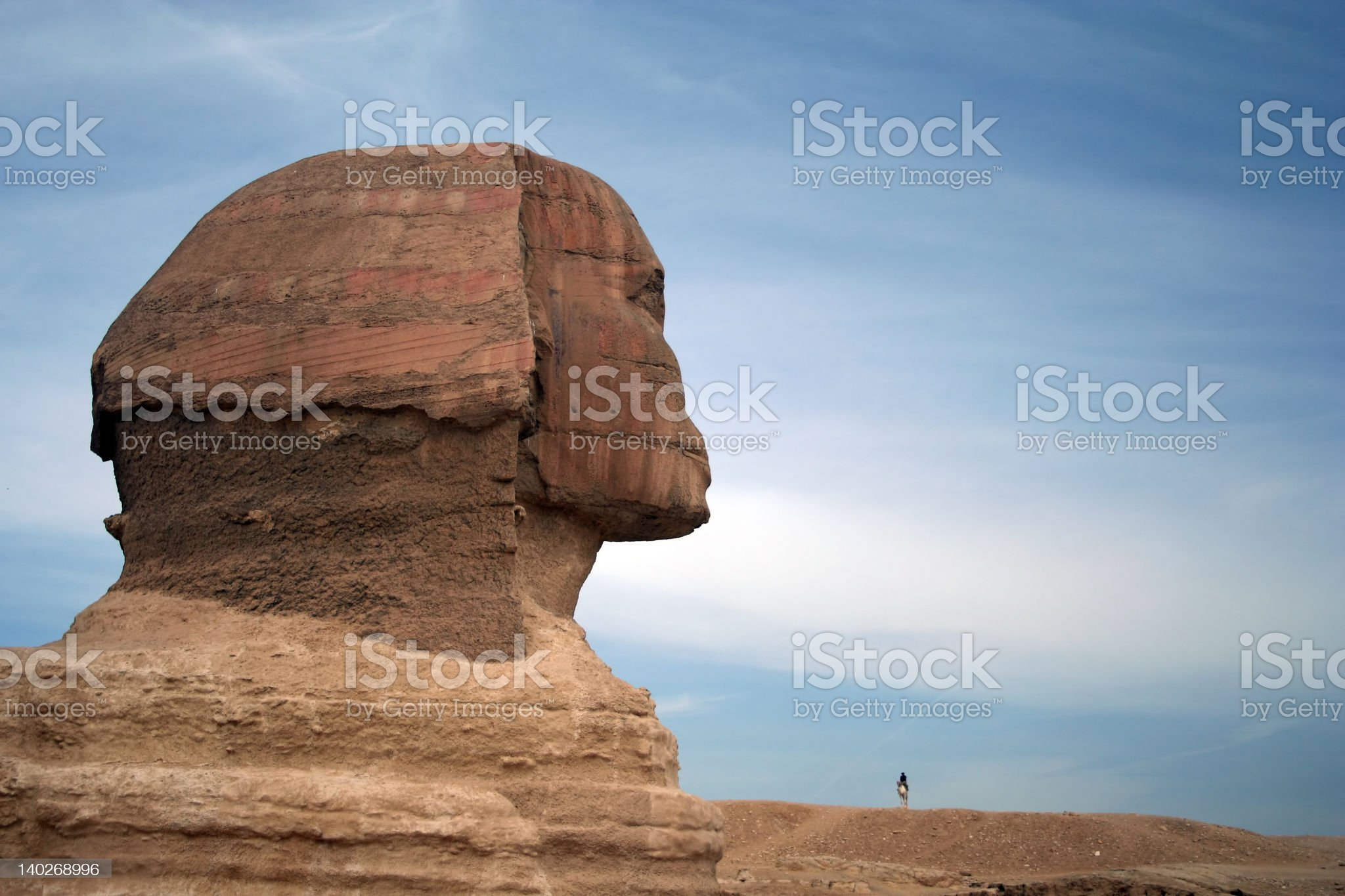 The Sphinx at Giza, Egypt royalty-free stock photo