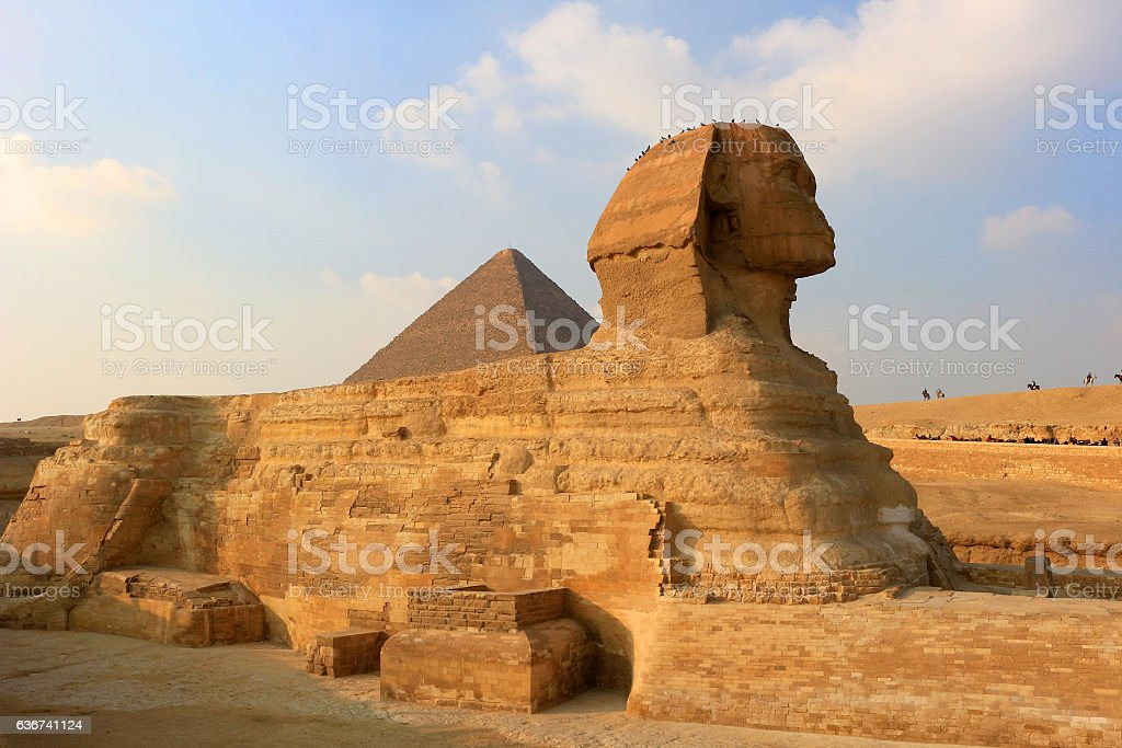 The Sphinx at Giza, Egypt stock photo