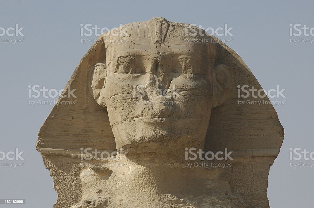 The Sphinx at Gizah, Egypt. stock photo