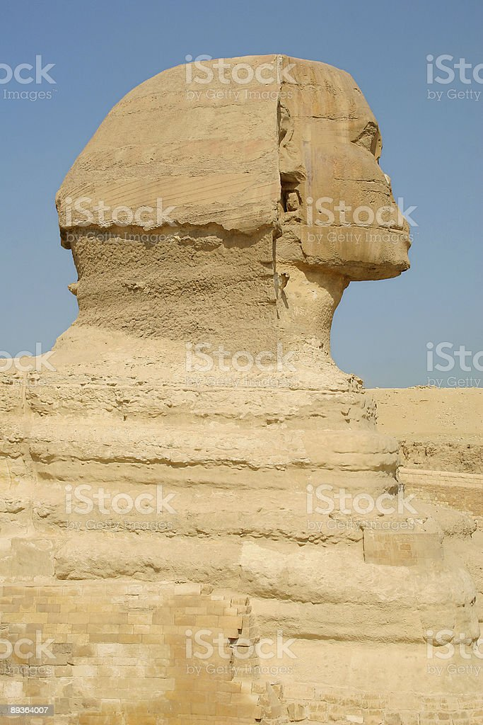The Sphinx, Giza, Egypt stock photo