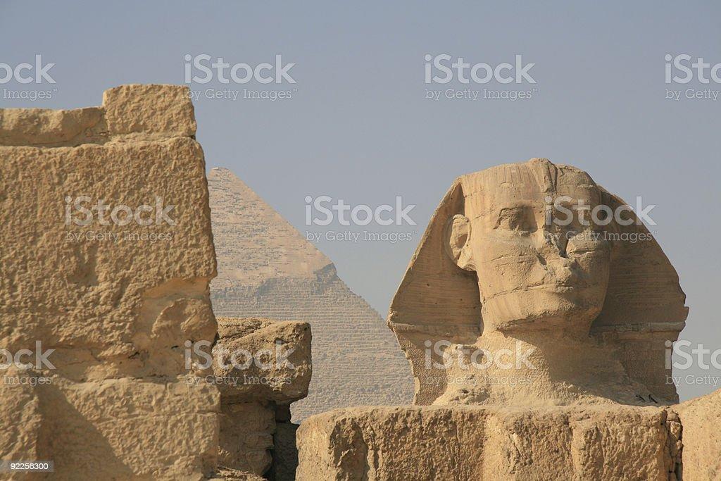 The Sphinx Head royalty-free stock photo