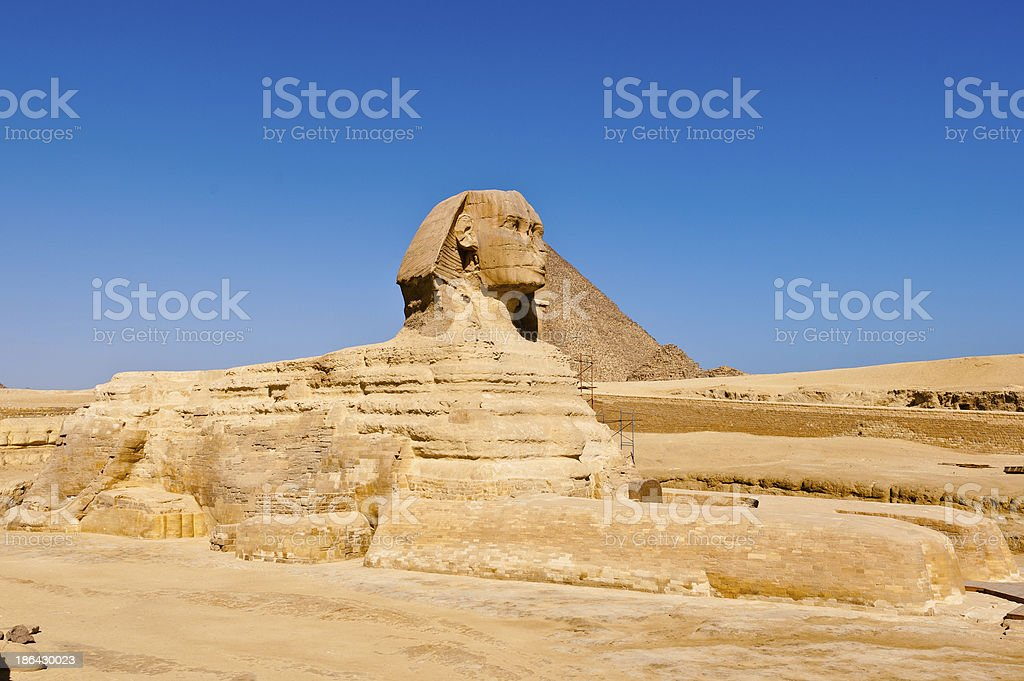 The Sphinx in Egypt royalty-free stock photo