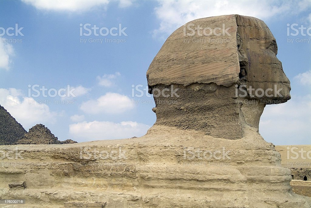 The Sphinx in profile - Giza 1 royalty-free stock photo