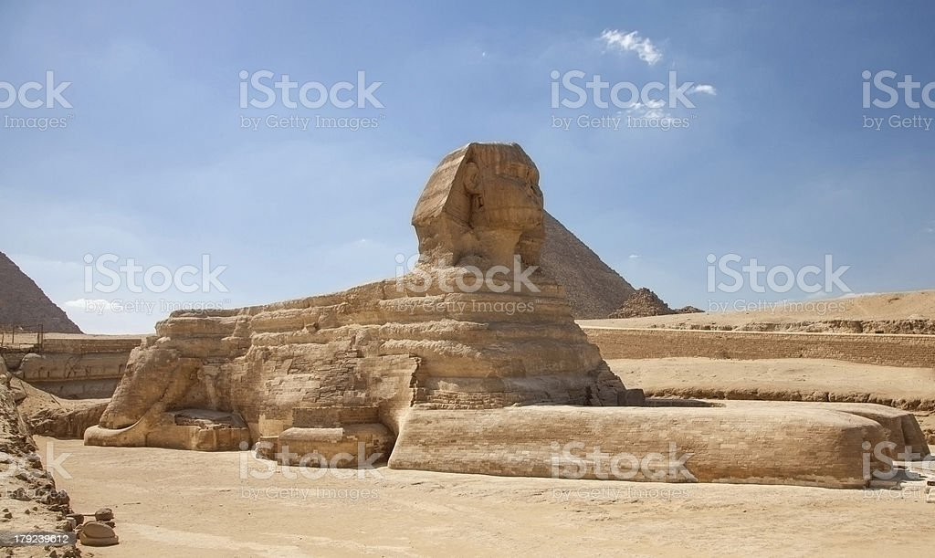 The Sphinx of Giza royalty-free stock photo