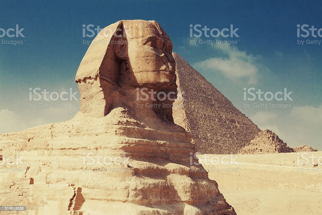 The Sphinx of Giza stock photo
