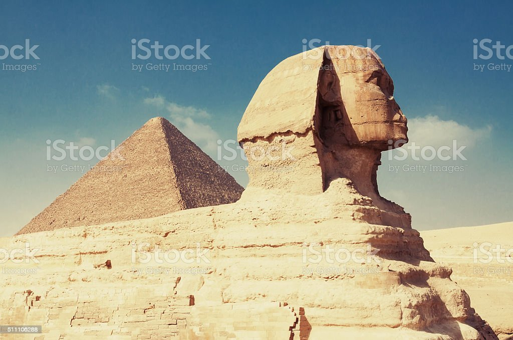 The Sphinx of Giza stock photo