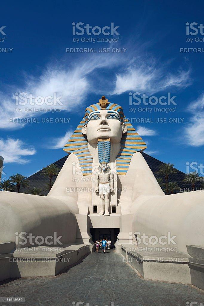 The Sphinx of Luxor Hotel stock photo