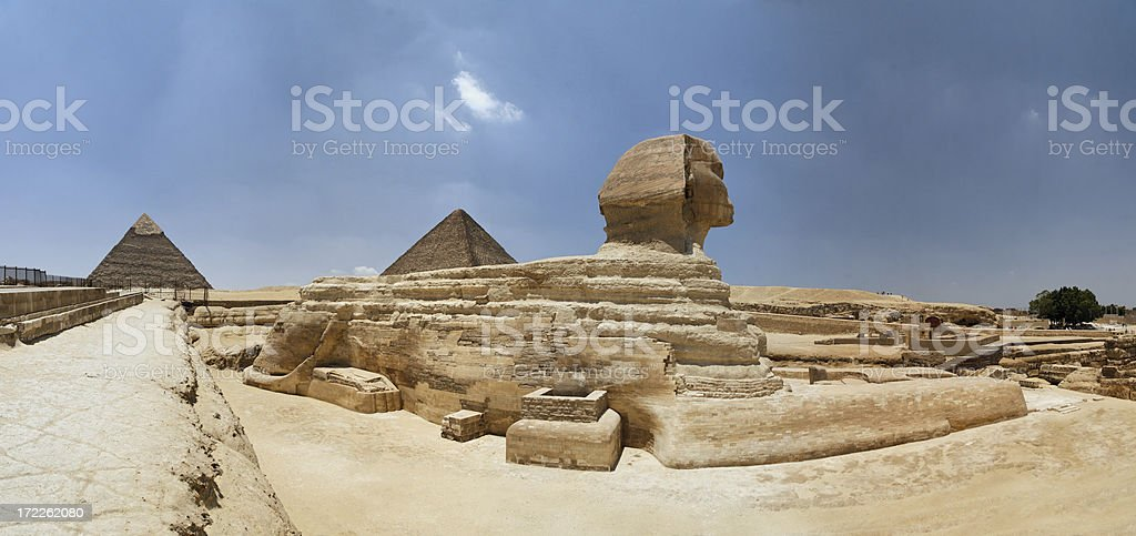 The Sphinx panorama royalty-free stock photo