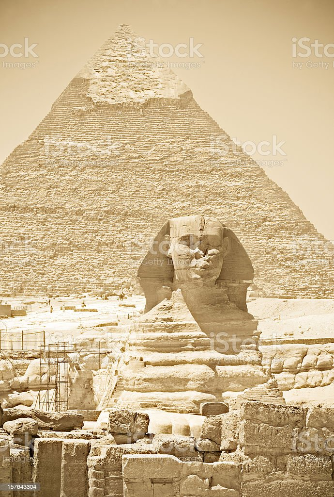 The Sphinx stock photo