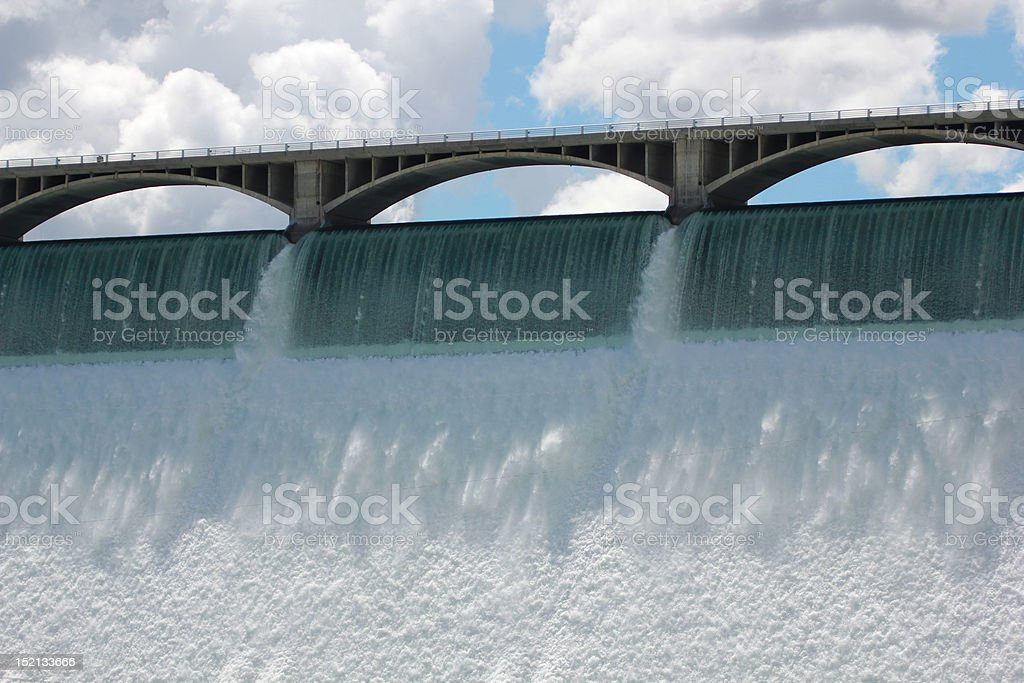 The spillway stock photo