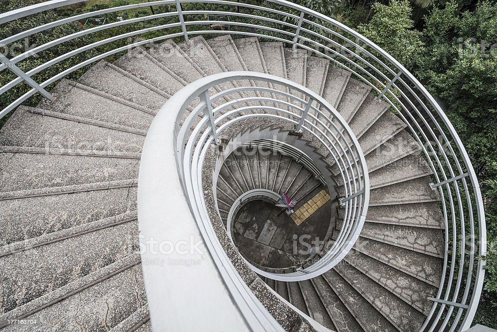 The spiral staircase stock photo