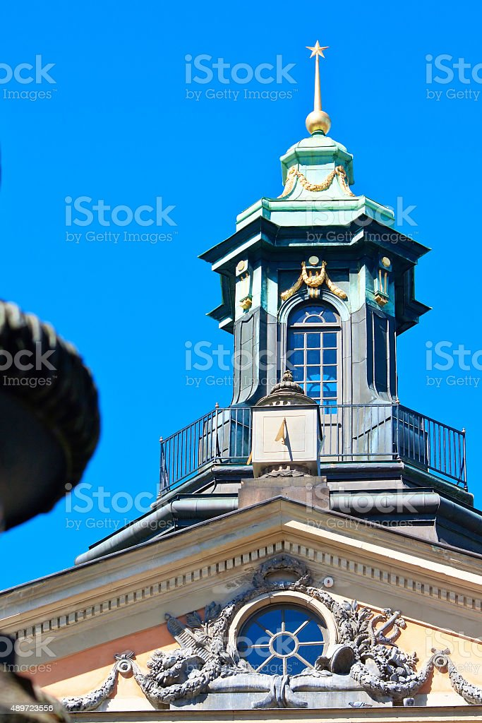 The spire of the Swedish Academy stock photo