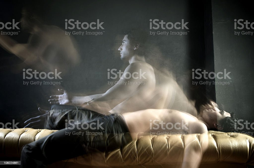 The spirit of  a man stock photo