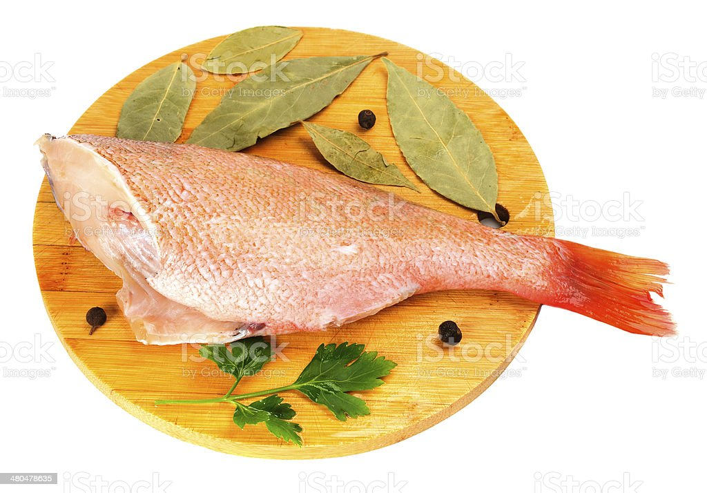 The split sea bass royalty-free stock photo