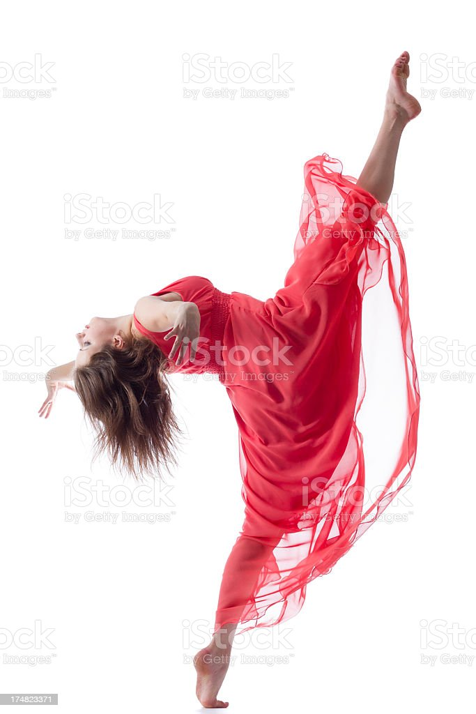 The Splits isolated on white royalty-free stock photo
