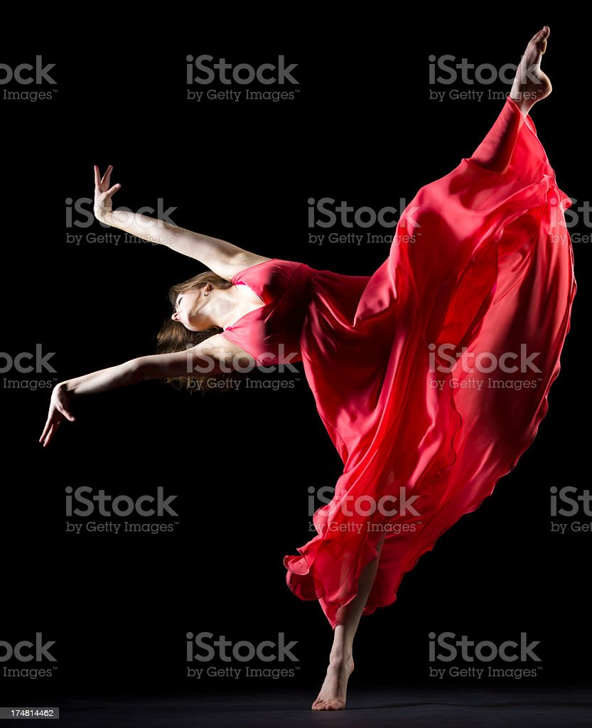 The Splits on black background royalty-free stock photo