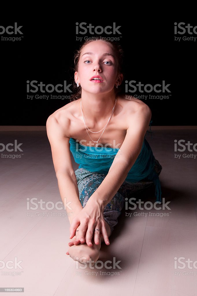 The Splits. stock photo