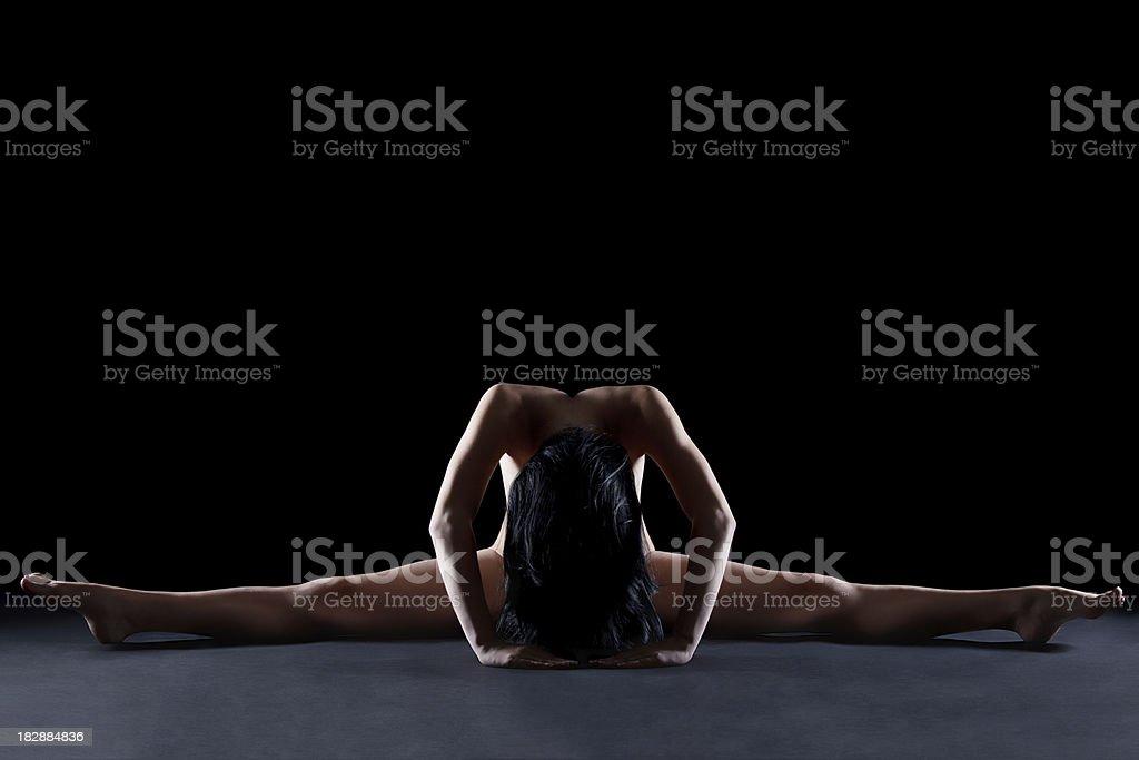 The splits royalty-free stock photo