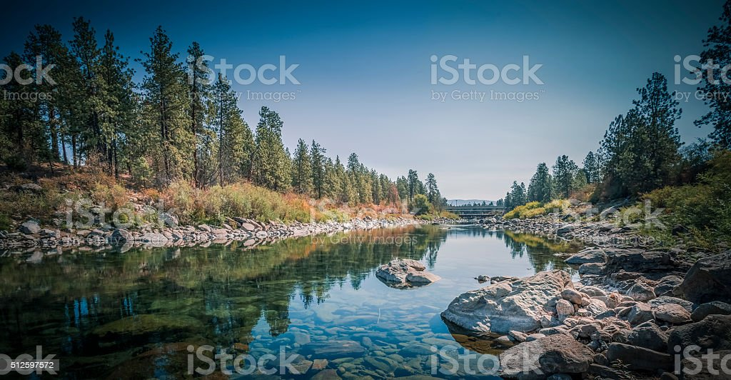 The Spokane River Centennial Trail stock photo